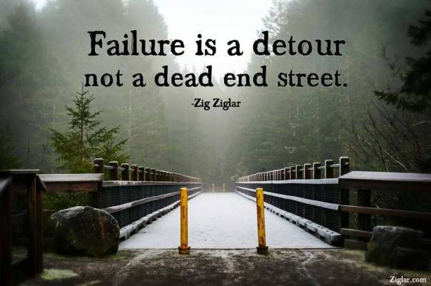 Failure is a detour